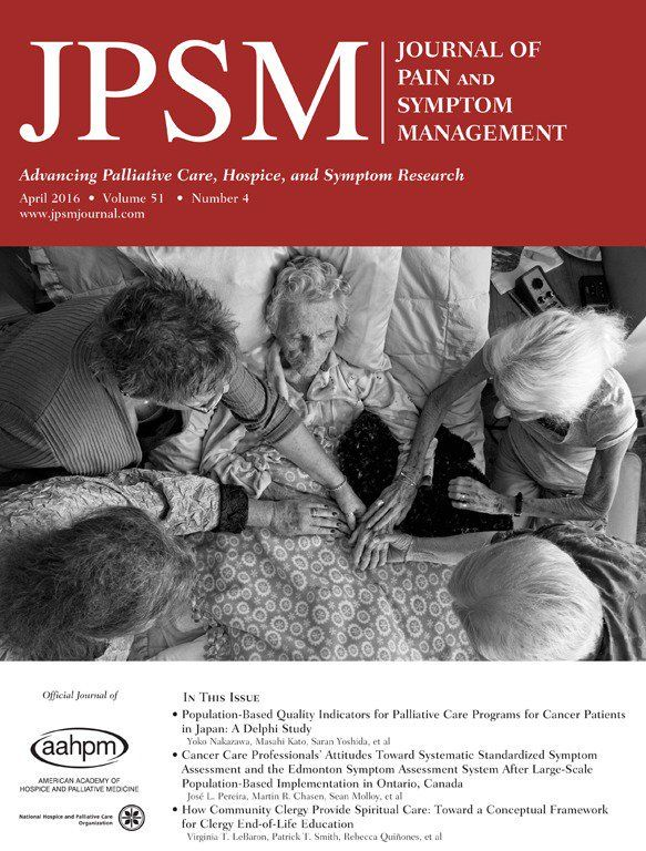 journal of pain and symptom management cover